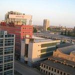 Vista da janela para a cidade