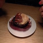 My yummy peanut/chocolate cupcake!