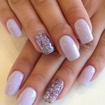 Gorgeous Lilac and Sparkle Gel Nails