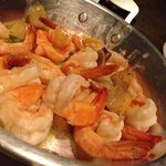 Shrimp in spicy garlic butter - tapas. Juicy buttery with the sharpness of chilli and a hint of