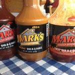 BBQ Sauces, Red, Original and Hot.