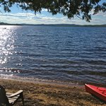 view from the beach near the Cedar Point cabin.