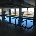 Pool and hotub area  overlooking city on 8th floor