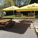 The new beer garden
