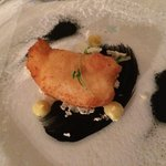 Amazingly cooked Monkfish on Squid Ink