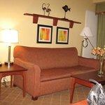 Sitting area of suite 118