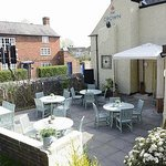 Our inviting beer garden