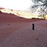Kanyon çıkışı kumlarda kızılın farlı tonları