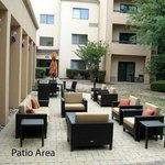 Patio in courtyard