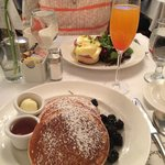 Lemon Ricotta Pancakes, Eggs Benedict, and a Bellini
