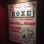 vieille affiche de boxe au trinquet maitena de st jean de luz