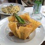 Risotto champignon et crème de truffe.  excellent!