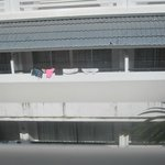 View from the room - someones washing!