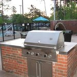 Grill with patio