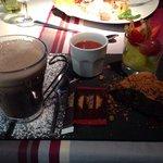 Chocolate gourmade - dessert trio and hot chocolate