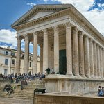 The Maison Carree is designed after the temple of Apollo and Mars Ultor in Rome