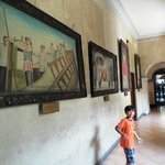 Old paintings depicting the history of Sto. Nino de Cebu
