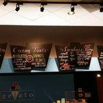 Gelato/ice cream/coffee menu