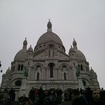the Sacre Coeur at twilight