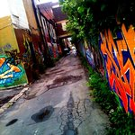 Graffiti tour down the alley
