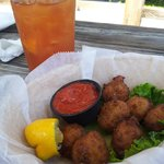 Conch Fritter Appetizer (there were 8 - I couldn't wait)