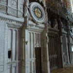 Astrological clock inside, newly restored