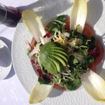 Superb avocado and chicory salad.