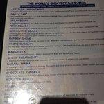 Individual drink menu