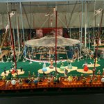 Under the big top at the miniature circus display