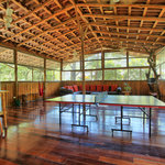 Upstairs bar, ping-pong table, & lounge at The Jungle House vacation rental.