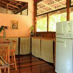 The upstairs bar at The Jungle House Santa Teresa, Costa Rica vacation rental.