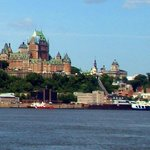 "the ""Château Frontenac"" from the ferry between Québec and Lévis"