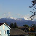vista delle montagne della carnia dalla finestra della camera...