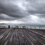 Stormy day on the pier