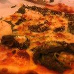 Pizza mit Spinat & Gambas!