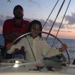Captain John oversees Captain Kingston's cruising skills