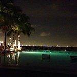 Night swim at the pool.
