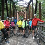 Bike club on an excursion up the river trail