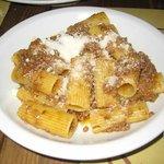 pasta with deer sauce