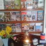local attraction leaflets in the entrance downstairs