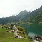 a lakeside town