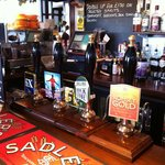 Eight real ale pumps