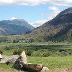 la vista del valle y el cerro Pirque