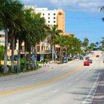 Beautiful Atlantic Avenue, Delray Beach, Florida.