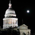 Capitol under full moon