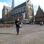 catedral no centro de Haarlem