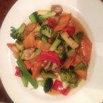 I enjoyed the hibachi vegetables.
