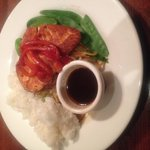 My husband had the Ginger Salmon with steamed rice.