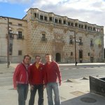As a host, taking two friends of Madrid to see the Palace.