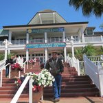 On the steps of Crown Colony Restaurant.